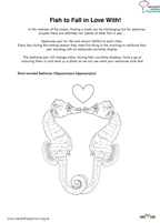 Fish to Fall In Love With - Colouring Sheet Thumbnail